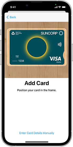 Add card Apple pay smartphone