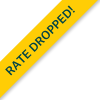 Badge Rate Dropped ! in Green Text & Yellow Background.