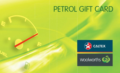 Petrol gift card for Caltex and Woolworths