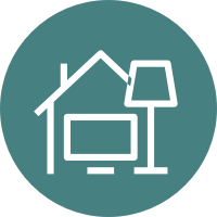 home and contents badge icon secondary