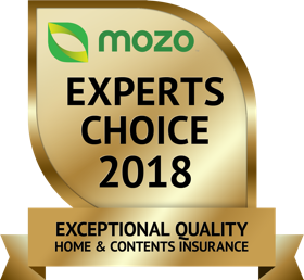 Mozo Experts Choice 2018 Exceptional Quality Home and Contents Insurance