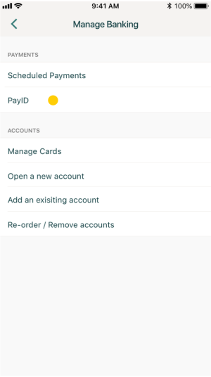 Suncorp mobile app PayID feature